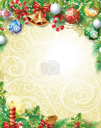 Photo for Vintage Christmas background - Royalty Free Image