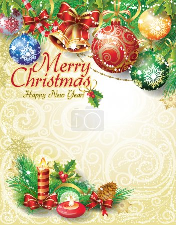 Illustration for Christmas background - Royalty Free Image