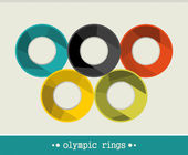 Olympic rings Vector illustration