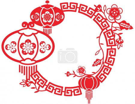 Chinese New year and Mid Autumn festival Frame