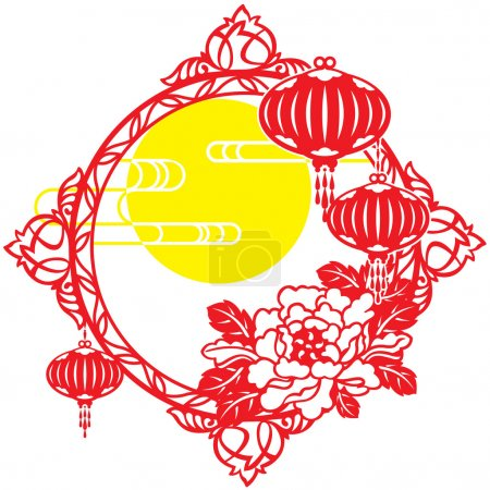 Chinese Mid Autumn festival and New year design