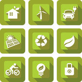 ECO friendly icon design sets in green