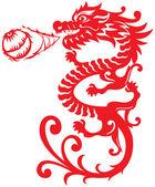Chinese Style Dragon Breathing Fire Ball illustrat