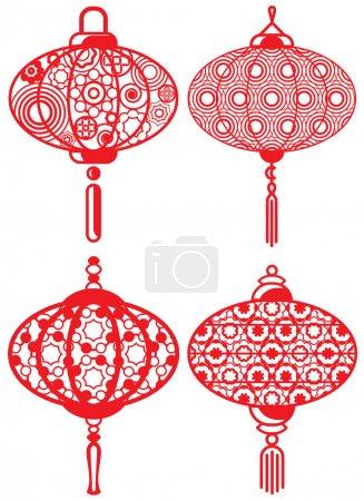 Contemporary lanterns design set