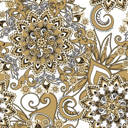Illustration for Floral pattern in vintage style - Royalty Free Image