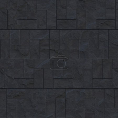 Rough grey slate tiled floor - seamless texture perfect for 3D modeling and rendering