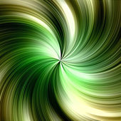 Fast tunnel motion in vibrant gold and green tones - abstract background