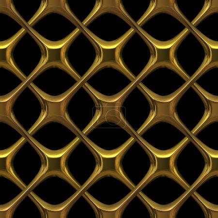 Photo pour Chaîne dorée fantaisie isolée sur noir - texture transparente parfaite pour la modélisation et le rendu 3D - image libre de droit