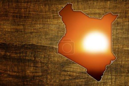 Kenya Wildlife Map Design