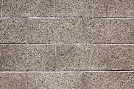 close up of gray brick cinderblock