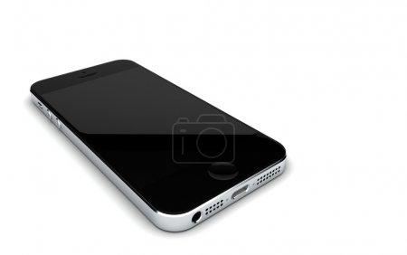 3D Illustration  black smartphone