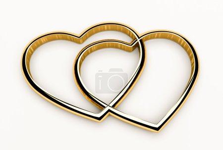 Hearts cross in gold