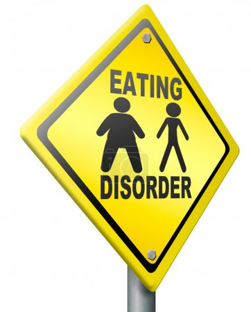 Photo for Eating disorder anorexia obesity unhealthy lifestyle obese or very thin a psychological sickness - Royalty Free Image