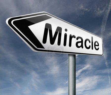 Photo pour Miracle faire rêve devenu réalité merveille par Jésus ou Dieu quand vous avez la foi - image libre de droit