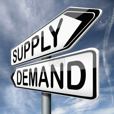 Photo for Supply and demand market price depends on rarity and product value - Royalty Free Image