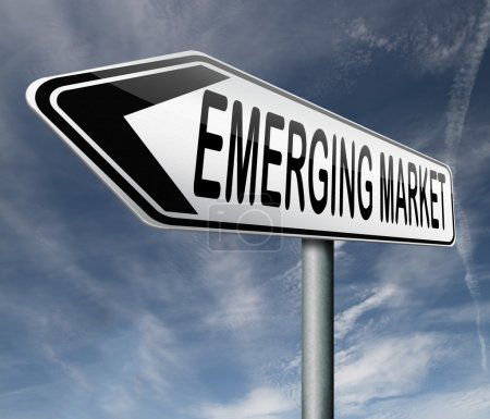 Photo pour Marché émergent nouvelle économie à croissance rapide économies frénétiques - image libre de droit