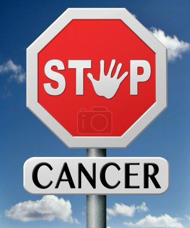 Photo pour Cancer de l'arrêt par la prévention et le diagnostic précoce améliorer le traitement prévenir et trouver les causes des cancers du poumon sein du foie de la prostate - image libre de droit