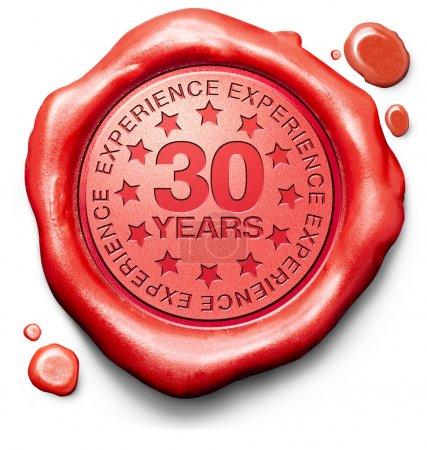 Photo pour 30 ans d'expérience 30 ans d'expertise spécialisée top expert spécialiste meilleur service garanti - image libre de droit