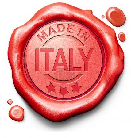 Photo pour Fait en Italie original produit acheter local acheter authentique - image libre de droit