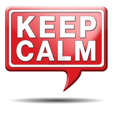 Photo pour Gardez votre calme et de ne prendre facilement aucuns soucis - image libre de droit