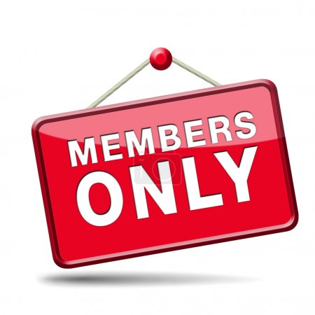 Photo for Members only icon sign or sticker become a member and join here to get your membership label. - Royalty Free Image
