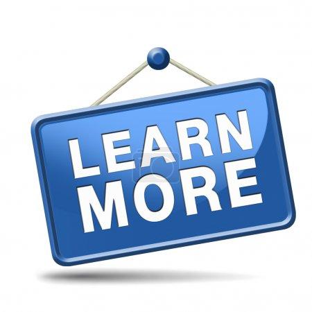 Photo pour Découvrez plus de détails et d'informations icône, le bouton ou informations signe. Bureau d'études ou aide ou soutien en ligne. Rechercher et trouver des connaissances en ligne. - image libre de droit