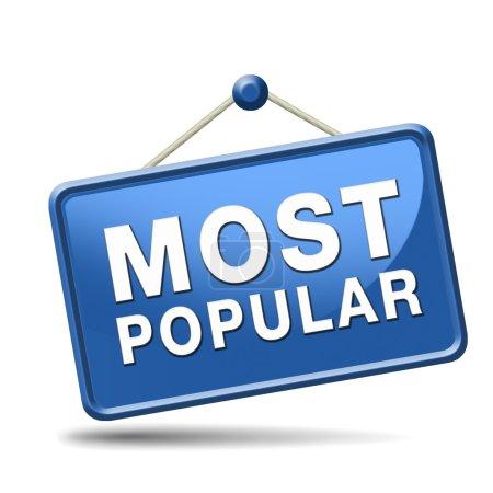 Photo pour Étiquette ou icône de popularité de signe la plus populaire f - image libre de droit