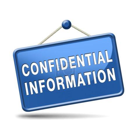 Photo pour Confidentiel très secret classées informations label rouge icône ou timbre - image libre de droit