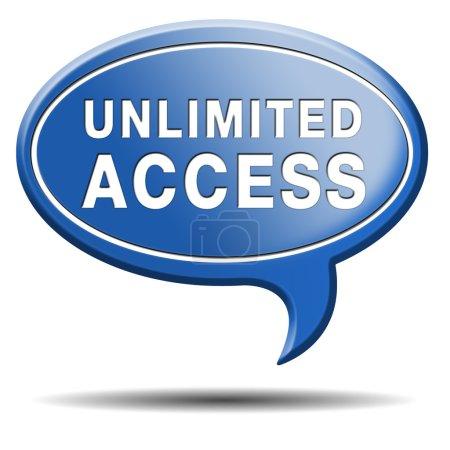 Photo pour Illimité toutes les zones d'accès aucun membre vip de restrictions - image libre de droit