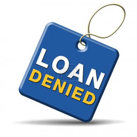 Loan denied icon or button loaning money for car h...