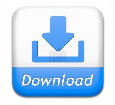 Photo pour Télécharger le bouton pour la musique, de vidéos ou de données téléchargement icône de fichier ou ebook du document pdf - image libre de droit