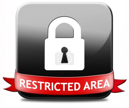 Photo for Restricted area membership required password protected members only access key icon - Royalty Free Image