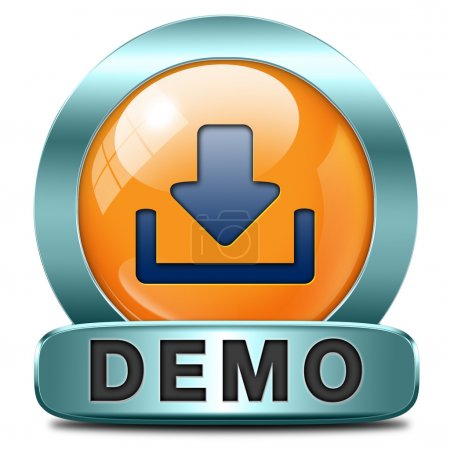 Demo download button or icon for free trial demons...