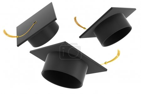 Photo for Graduation hat on white background - Royalty Free Image
