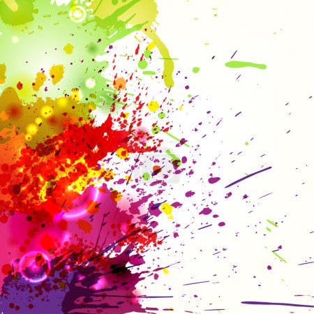 Illustration for Abstract background with colored ink blots. eps10 - Royalty Free Image