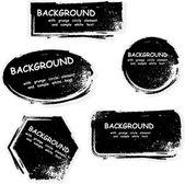 Black grunge frames with ink blots eps10