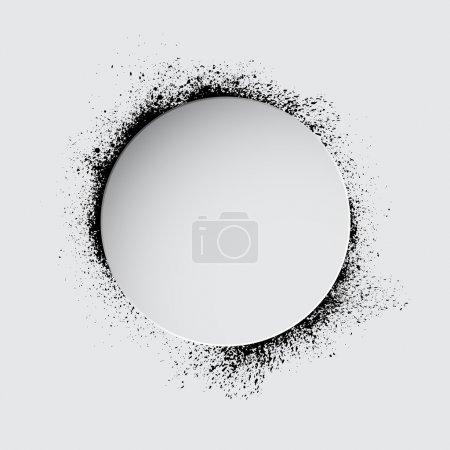 Illustration pour Cercle avec taches d'encre noire. eps10 - image libre de droit