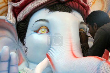 Making of Ganesh Idol for Ganesh chathurthi