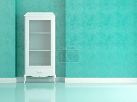 Photo pour Salon classique avec buffet blanc, rendu 3d / illustration . - image libre de droit