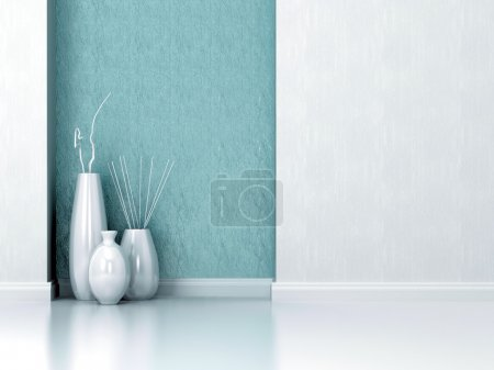 Photo for Detail shot of modern living room wall. Interior design. - Royalty Free Image