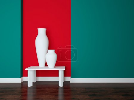 Modern living room wall.