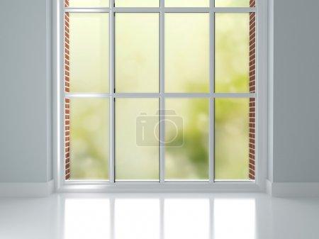 Room with big window.