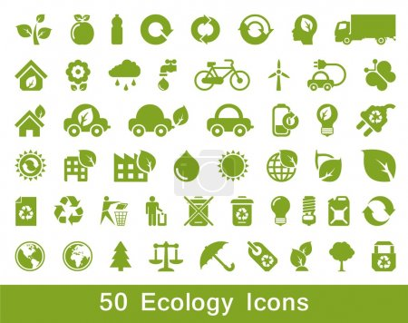 50 Ecology and recycle icons, vector set...