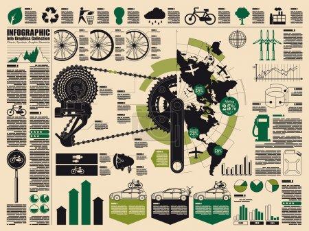 Photo pour Éléments de vecteur écologie, cyclisme graphique d'informations - image libre de droit