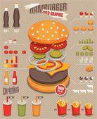Hamburger & fast food info graphics