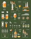 Beer info graphic background vector elements