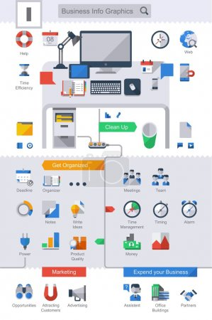 Business info graphic