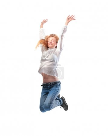 Photo for A girl is jumping. - Royalty Free Image