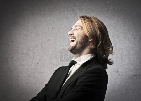 Photo for Laughing man in black - Royalty Free Image