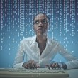 Black girl with binary codes...